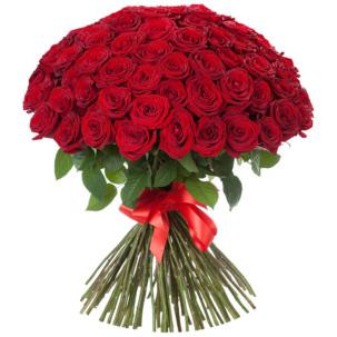 Розы Россия красные